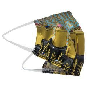 قناع وجه مصنوع يدوياً قطن طباعة دين أود قابل لإعادة الإستعمال غير طبي - مجموعة من 5 (متوفرة لعملاء الإمارات العربية المتحدة فقط)