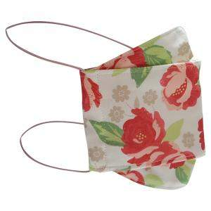 Non-Medical Handmade Beige Floral Printed Cotton Face Mask - Pack Of 2 (Available for UAE Customers Only)