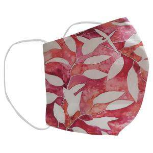 Non-Medical Handmade White/Red Floral Printed Cotton Face Mask - Pack Of 2 (Available for UAE Customers Only)
