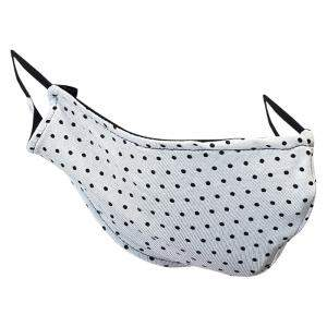 Non-Medical Handmade White Polka Dots Printed Cotton Face Mask - Pack of 5 (Available for UAE Customers Only)