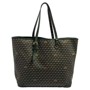 Faure Le Page Green Coated Canvas and Leather Daily Battle 37 Tote