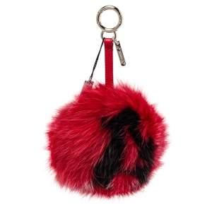 Fendi Red Fox Fur Letter A Bag Charm