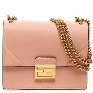 Fendi Pink Leather Kan U Shoulder Bag