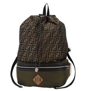 Fendi Brown Zucca Canvas Drawstring Backpack