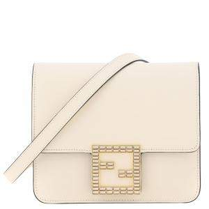 Fendi Nude Leather Fendi Fab Crystal Bag