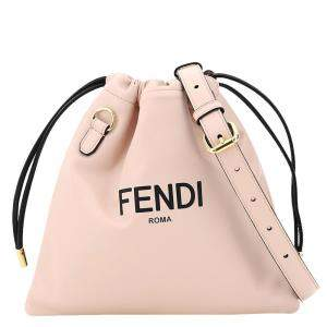 Fendi Rose Leather Pack Small Pouch Bag
