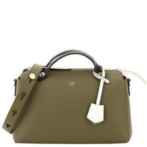 Fendi Green Leather By The Way Medium Bag