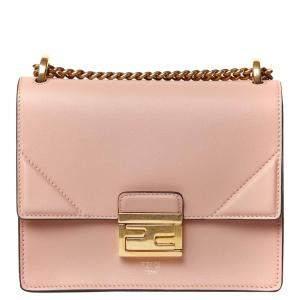Fendi Pink Leather Kan U Mini Bag