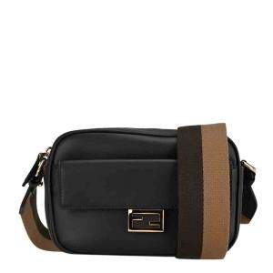 Fendi Black Mini Camera Baguette Shoulder Bag