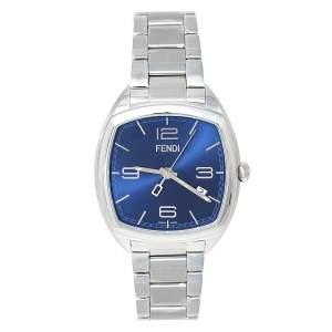 ساعة يد نسائية فندي مومينتو 22000L  ستانلس ستيل زرقاء 39مم