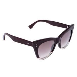 Fendi Burgundy/ Brown Gradient FF0238/S Cat Eye Sunglasses