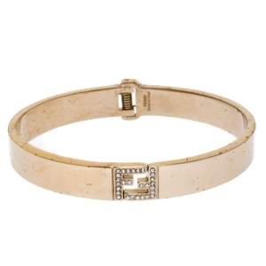 Fendi Fendista Crystal Gold Tone Bracelet