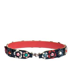 Fendi Multicolor Leather Floral Applique Interchangeable Shoulder Strap