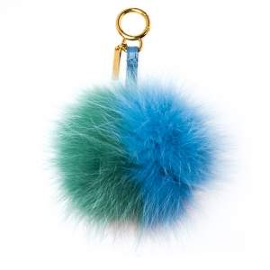 Fendi Multicolor Fox Fur Pom Pom Bag Charm