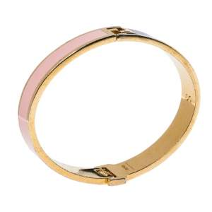 Fendi The Fendista Multicolor Enamel Gold Tone Bracelet S