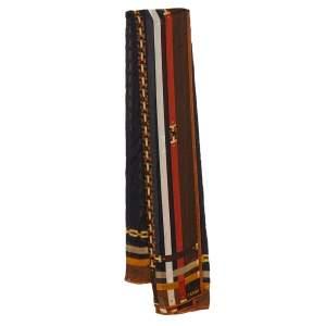Fendi Multicolor Chain Print Silk Scarf