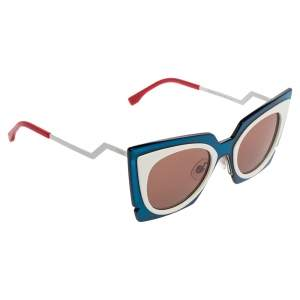 Fendi Colorblock /Champagne Orchidea FF 0117/S Cat Eye Sunglasses