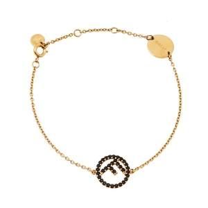 Fendi Gold Tone F is Fendi Bracelet