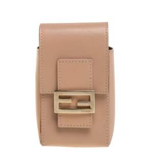 Fendi Beige Leather Cigarette Pouch