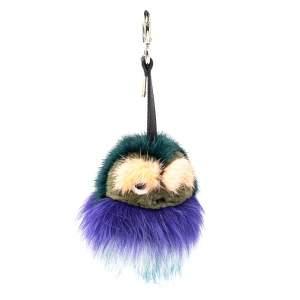 Fendi Multicolor Fur Monster Bug Bag Charm/ Key Ring