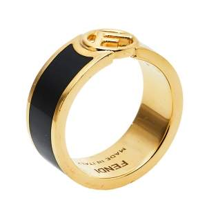 Fendi F is Fendi Bicolor Enamel Band Ring M