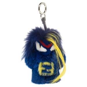 Fendi Blue Fur Fendirumi Bug-Kun Bag Charm
