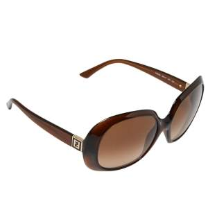 Fendi Brown FS5183 Oversized Oval Sunglasses