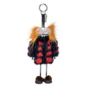 Fendi Multicolor Fur and Leather Monster Sweater Bag Charm