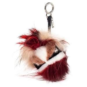 Fendi Multicolor Fur Crystal Monster Bag Charm