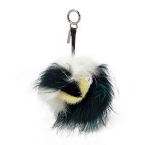 Fendi Green/Black Fur Prisma Monster Bag Charm