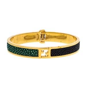 Fendi The Fendista Bicolor Stingray Gold Tone Bracelet S