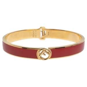 Fendi F is Fendi Red Enamel Cuff Bracelet L