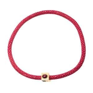 Fendi Pink Stingray Crystal Gold Tone Collar Necklace