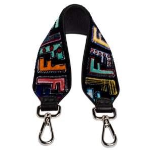 Fendi Multicolor Velvet Mini Fun Fair Strap You Shoulder Bag Strap