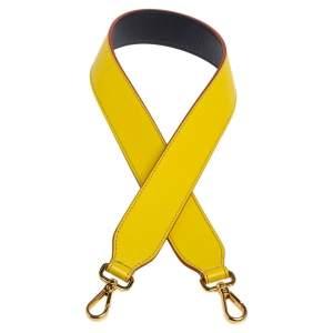 Fendi Yellow/Navy Blue Leather Interchangeable Shoulder Bag Strap