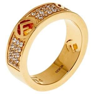 Fendi Gold Tone F Is Fendi Ring S