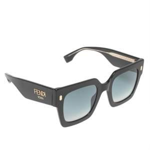Fendi Black Acetate FF0457/G/S Fendi Roma Gradient Oversized Sunglasses