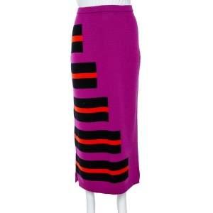 Fendi Purple Knitted Cashmere Skirt M