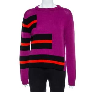 Fendi Purple Knitted Cashmere Sweater M