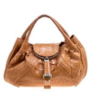 حقيبة فندي سباي جلد فورتوني هولوغرافيك برونزية