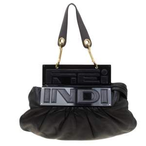 Fendi Black Leather To You Convertible Shoulder Bag