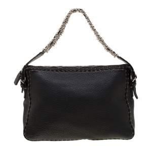 حقيبة كتف فندي جلد أسود