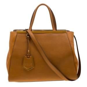 Fendi Caramel Brown Leather Medium 2jours Tote