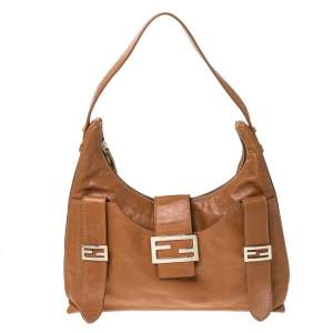 Fendi Tan Leather Mamma Baguette Bag