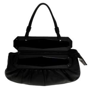 حقيبة كلتش فندي تو يو بوجهين جلد سوداء