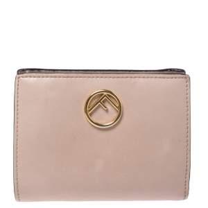 Fendi Beige Leather Bifold F Is Compact Wallet