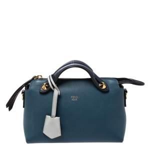 """حقيبة كروس فندي """"باي ذا واي"""" ميني جلد أزرق"""