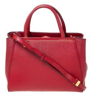 Fendi Red Leather Mini 2Jours Tote