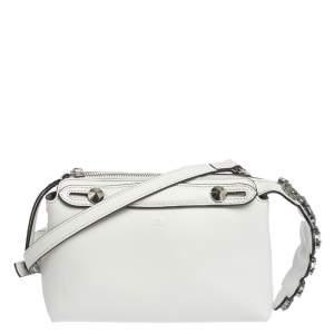 حقيبة ميني كروس فندي باي ذا واي جلد بيضاء