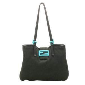حقيبة فندي كانفاس أسود